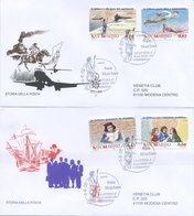 SAN MARINO - FDC VENETIA  2005 - STORIA DELLA POSTA - VIAGGIATE - FDC