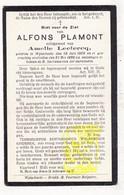 DP Alfons Plamont ° Wijtschate 1869 † 1928 X Amelie Leclercq / Heuvelland - Images Religieuses