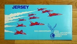 Jersey QEII 1975 Yt.121-124/Mi.127-130 50th Anniversary Of The RAF Association Set Presentation Pack Mint Never Hinged. - Jersey