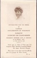TOURNAI Camille D'OULTREMONT De WEGIMONT Marquise D'ONCIEU 1880-1931 DP Souvenir Mortuaire Noblesse - Décès