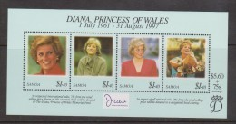 Samoa 1998 Princess Diana Miniature Sheet MNH - Samoa