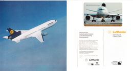GERMANY - McDonnell Douglas DC10-30, Lufthansa First Class, TNC Prepaid Card $20, Tirage 10000, Unused - Avions