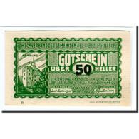 Billet, Autriche, Hainfeld, 50 Heller, Texte 2, 1920, SPL, Mehl:340a - Autriche