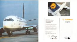 GERMANY - Boeing 737-200, Lufthansa First Class, TNC Prepaid Card $20, Tirage 10000, Unused - Avions