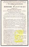 DP Eudoxie Platteau ° Wijtschate Heuvelland 1882 † Voormezele Ieper 1939 X G. Pannecoucque - Images Religieuses