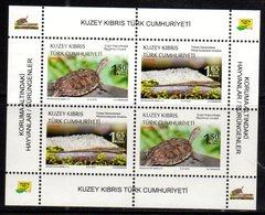 TURKISH CYPRUS, 2018, MNH, REPTILES, LIZARDS, TURTLES, SHEETLET OF 2 SETS - Turtles