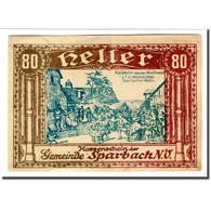 Billet, Autriche, Sparbach N.Ö. Gemeinde, 80 Heller, Texte, SPL, Mehl:1006e - Autriche