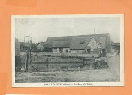 CPA  -  Etavigny -(Oise) - La Mare Et L'école - Frankreich