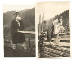 ROMANIA, 2 OLD PHOTOS WITH RUMENIAN TYPES . - Roemenië