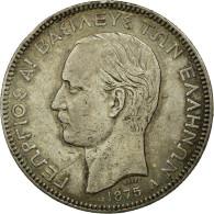 Monnaie, Grèce, George I, 5 Drachmai, 1875, Paris, TTB, Argent, KM:46 - Greece