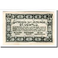 Billet, Autriche, St. Oswald N.Ö. Gemeinde, 20 Heller, Paysage 1, 1920, SPL - Autriche