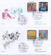 SAN MARINO - FDC VENETIA  2005 - ARTISTI - ARTE E LETTERATURA - VIAGGIATE - FDC