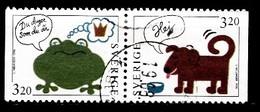 Suède 1994 Mi.Nr.: 1838+1839 Grussmarken   Oblitérés / Used / Gestempeld - Usados