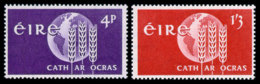 Ireland, 1963, Freedom From Hunger, FAO, United Nations, MNH, Michel 157-158 - Irlande