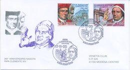 SAN MARINO - FDC VENETIA  2005 - PAPA CLEMENTE XIV - VIAGGIATA - FDC