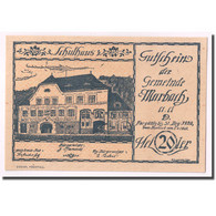 Billet, Autriche, Marbach An Der Donau, 20 Heller, Manoir, 1920, 1920-04-07 - Autriche