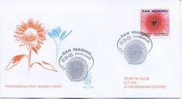 SAN MARINO - FDC VENETIA  2005 - GRANDI UTENTI - POSTA ORDINARIA - VIAGGIATA - FDC