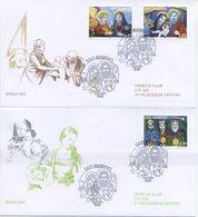 SAN MARINO - FDC VENETIA  2005 - NATALE - ARTE - VIAGGIATE - FDC