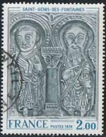 France 1976 Yv. N°1867 - Linteau De L'église De Saint-Genis-des-Fontaines  - Oblitéré - France