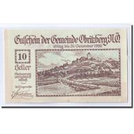 Billet, Autriche, Obritzberg, 10 Heller, Valeur Faciale, 1920, SPL, Mehl:701a - Autriche