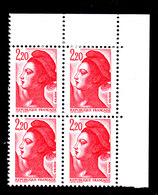 YT 2376 ** - Liberté De Gandon 2,20 Rouge - Bandes Phosphorescentes Plus Courtes - Variétés: 1980-89 Neufs
