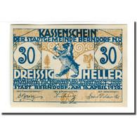 Billet, Autriche, Berndorf N.Ö. Stadtgemeinde, 30 Heller, Texte 1, 1920 - Autriche