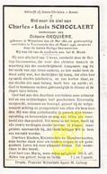 DP Charles L. Schoolaert Scholaert ° Wijtschate Heuvelland 1861 † Voormezele Ieper 1946 X O. Gequière - Images Religieuses