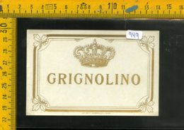 Etichetta Vino Liquore Grignolino - Etichette