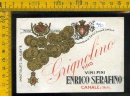Etichetta Vino Liquore Grignolino Serafino Canale - Altri