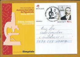 Postal Stationery Medical Symposium. Microscope. Cells. Dr António Carvalho Figueiredo. Ganzsachen Medizinische Symposiu - Medicina