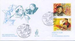 SAN MARINO - FDC VENETIA  2006 - CRISTOFORO COLOMBO - VIAGGIATA - FDC
