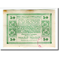 Billet, Autriche, Berg O.Ö. Gemeinde, 50 Heller, Paysage, 1920, 1920-06-27 - Autriche