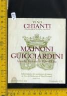 Etichetta Vino Liquore Chianti Guicciardini Vico Di Barberino D'Elsa FI - Etichette