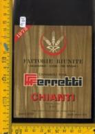 Etichetta Vino Liquore Chianti Ferretti 1972 Capannoli Pisa - Etichette