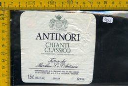 Etichetta Vino Liquore Chianti Antinori S. Casciano Val Di Pesa FI - Etichette