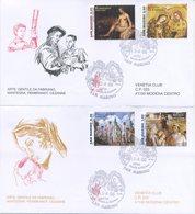SAN MARINO - FDC VENETIA  2006 - PITTORI - MANTEGNA - REMBRANDT - CEZANNE - GENTILE DA FABRIANO - FDC
