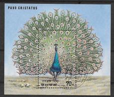 DPR Korea  Souvenir Sheet Pavo Christatus Peacock - Paons