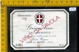 Etichetta Vino Liquore Grignolino 1976 La Morra - Altri