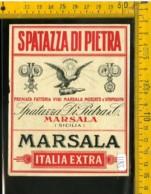 Etichetta Vino Liquore Marsala Spatazza Di Pietra Sicilia - Altri
