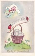 Happy Easter, Joyeux Paques, Vrolijk Paasfeest,  Ladybirds, Easter Eggs (pk54220) - Pâques