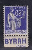 PUBLICITE: TYPE PAIX 65C BLEU BYRRH-stimule NEUF** ACCP978 C7E - Advertising