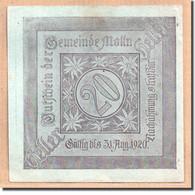 Billet, Autriche, Mölln, 20 Heller, Paysage 1, 1920, SPL, Mehl:625 - Autriche