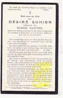 DP Désiré Sohier ° Voormezele Ieper 1853 † Wijtschate Heuvelland 1928 X Elodie Bartier - Images Religieuses