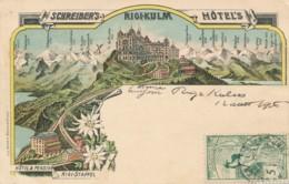 XCH.906.  Schreiber's Rigi-Kulm Hotel's - 1906 - LU Lucerne