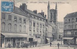 FECAMP Place Thiers Et L'Eglise St-Etienne ( LL 58 ) ( DEFAUT VOIR DESCRIPTION ) - Fécamp