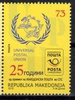 MACEDONIA, 2018, MNH, 25th ANNIVERSARY MEMBERSHIP IN UPU,1v - UPU (Union Postale Universelle)