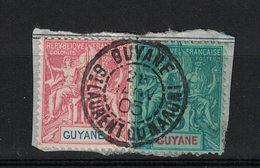 GUYANE - FRENCH GUIANA - Yvert 33 Et 44 Oblitéré ST-LAURENT-DU-MARONi - Scott#35 And #38 - French Guiana (1886-1949)
