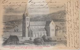 CPA Précurseur Dun-les-Places - Le Village En 1843 Lors De La Construction De L'église (gravure Daubigny Et Lavoignat) - France