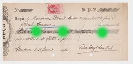 En 1911 Reçu Adressé à Daniel Bolland De Cerexhe Heuseux Marchand De Porcs ? Au Profit De Dozot - Lettres De Change