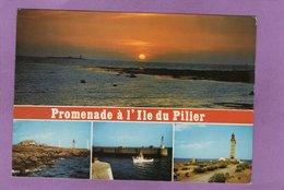 85 ILE DE NOIRMOUTIER Promenade à L'Ile Du Pilier Multivues Flamme Au Dos - Ile De Noirmoutier
